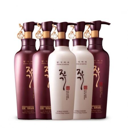 韩国进口康绮墨丽防脱红参洗发护发5瓶组