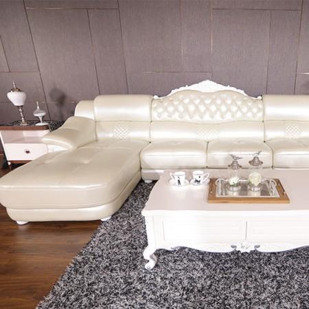 帕格尼欧式田园真皮沙发客厅套组